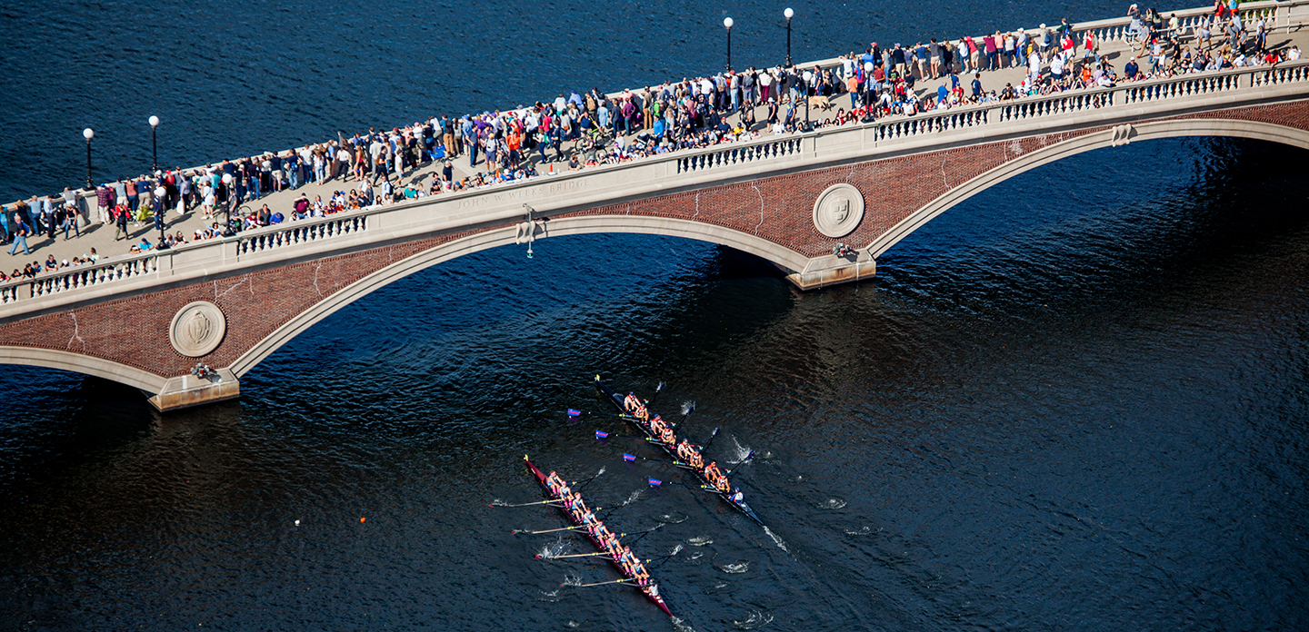 400,000 Spectators Line the Banks of Boston's Charles River During 50th Annual Head Of The Charles® Regatta