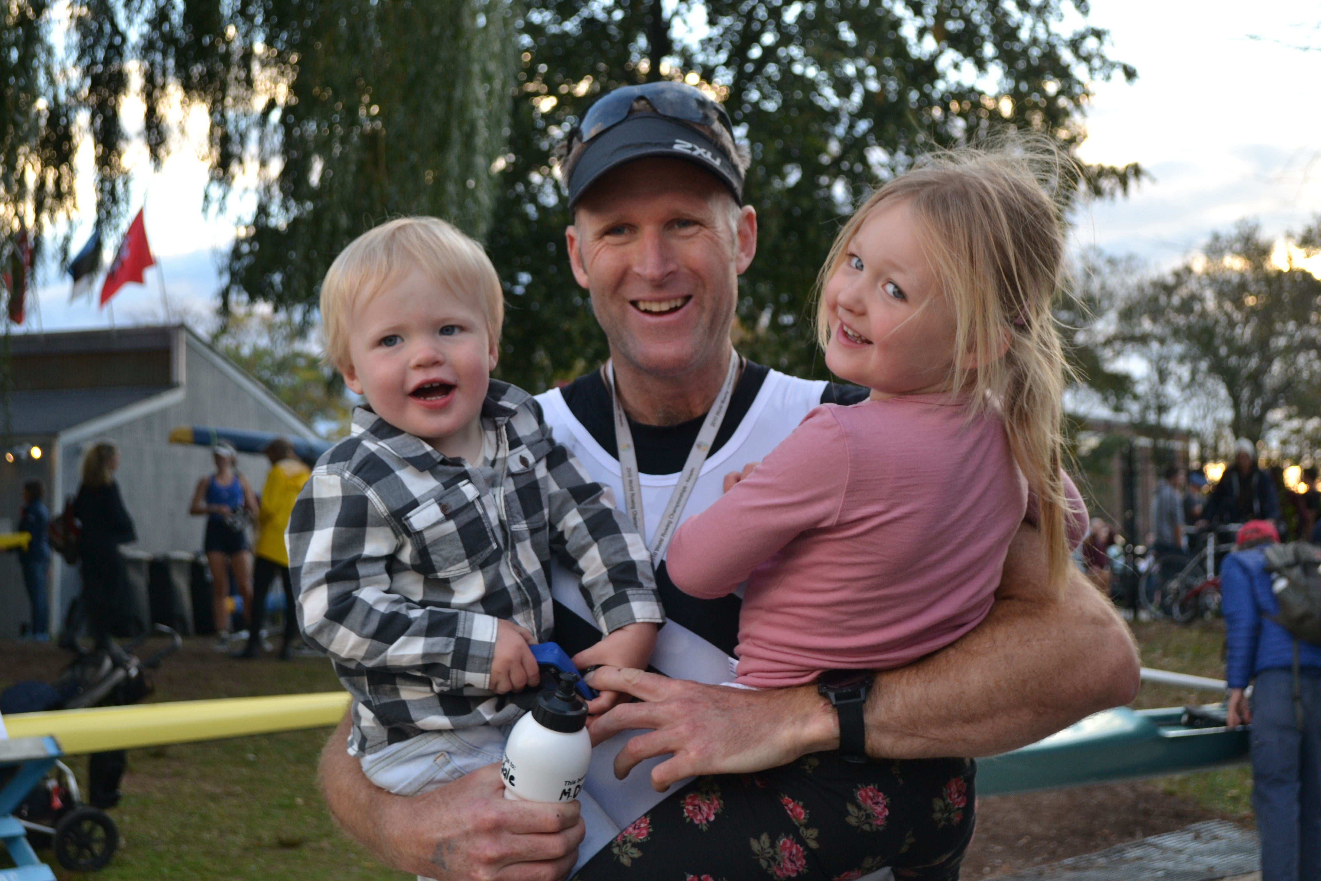 Mahe Drysdale and His Two Biggest Fans