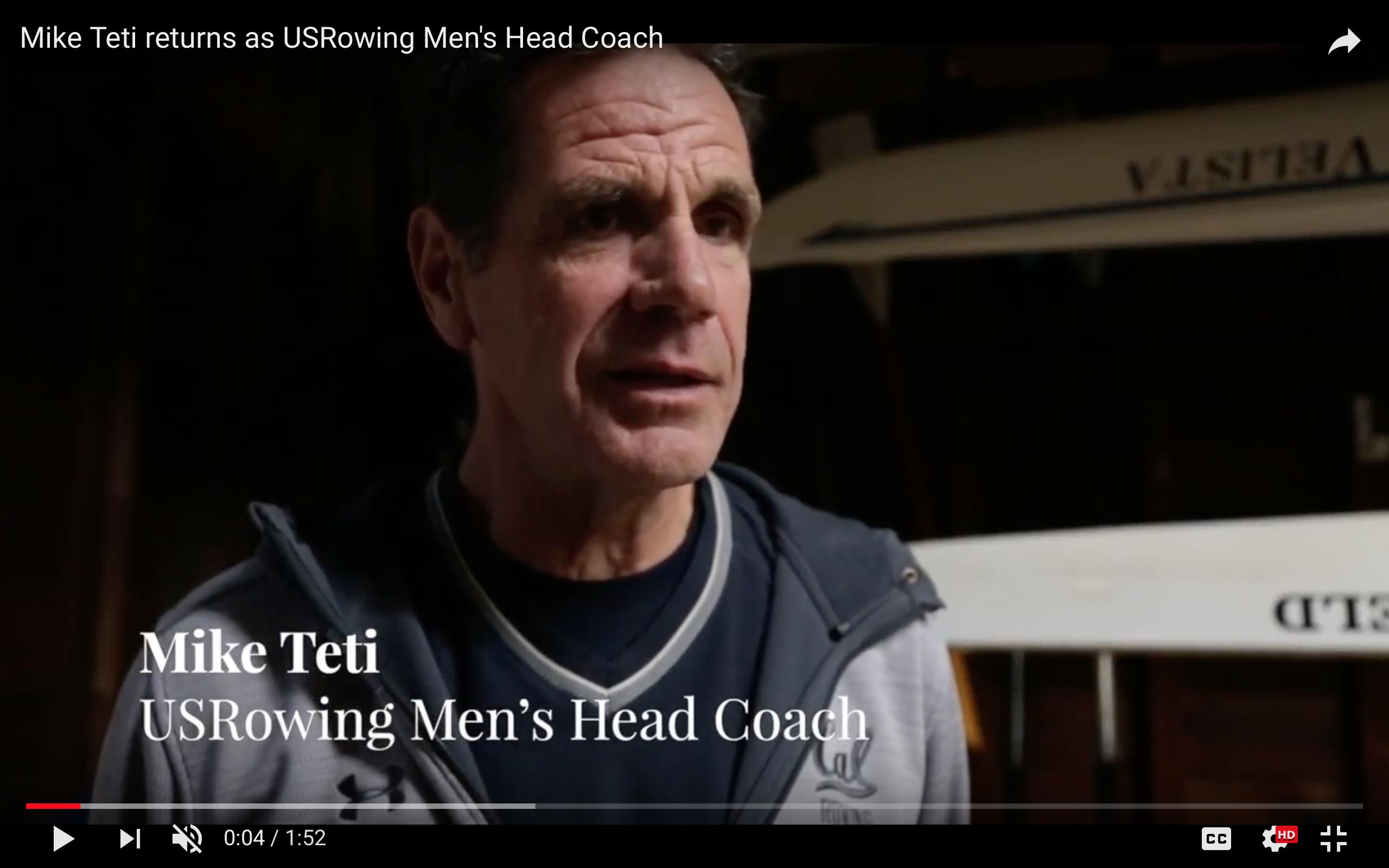 Teti Back at the Helm of U.S. Men's Team